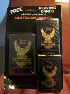 HARLEY DAVIDSON VINTAGE CIGARETTE PACK CARD SET