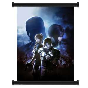 Resident Evil The Darkside Chronicles Game Fabric Wall Scroll Poster