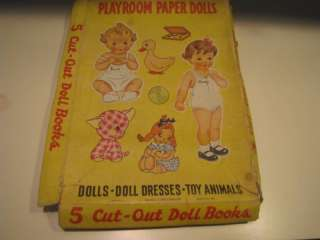 Vintage Cut Out Paper Dolls Books 1944 by Samuel Lowe