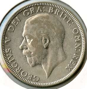 Great Britain 1936 Florin   Silver Coin   King George V   z465