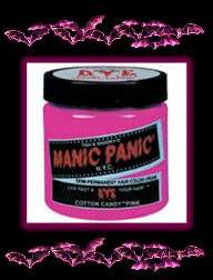 MANIC PANIC~Cream Hair Color/Dye~COTTON CANDY PINK~Glow
