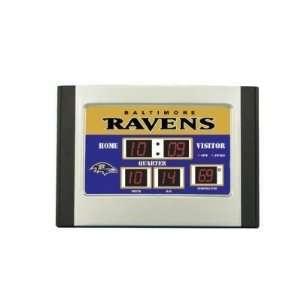 Scoreboard Desk Clock  Baltimore Ravens   NFL Football Fan Shop Sports