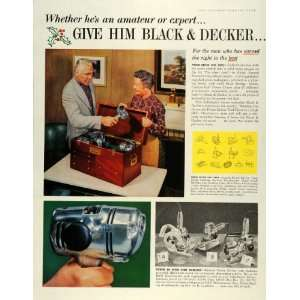 1959 Ad Black Decker Portable Electric Tools B&D Jig Saw Drill