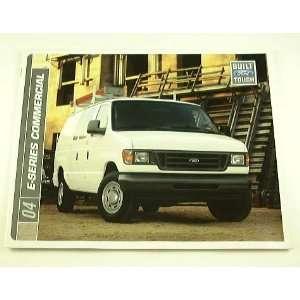 2004 04 Ford E SERIES COMMERCIAL Van BROCHURE E150 E350