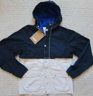 HILFIGER (NAVY/Natural) FASHION Coated Denim Jacket Mens   NWT ($129
