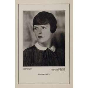 1927 Silent Film Star Marjorie Daw Demmy Lamson Print