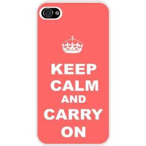 Rikki KnightTM Keep Calm and Carry On   Tropical Pink Color iphone
