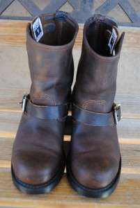 womens FRYE U.S.A. harness/engineer/campus/motorcycle boots sz 8 M oil