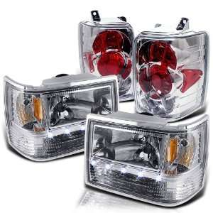 Grand Cherokee LED Head Lights + Tail Lights Brand New Replacement Set