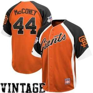 Majestic San Francisco Giants #44 Willie McCovey Orange