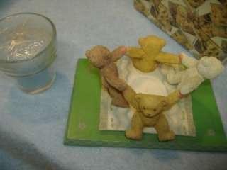 FRIENDS TEDDY BEAR CANDLE HOLDER FIGURINE Cherished Teddies #834149