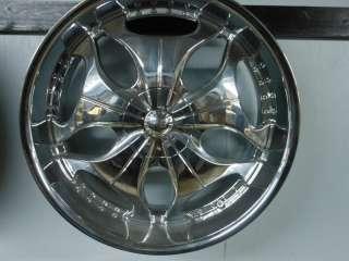 24X10 INCUBUS 525 NOVACAINE WHEELS CHROME SET NEW