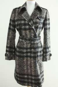 Womens Burberry London Nova Check Belted Wool Trench Coat Kensington