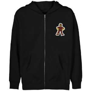NCAA Iona College Gaels Youth Black Logo Applique Full Zip