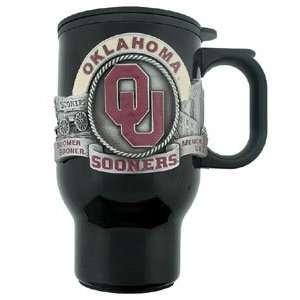 Oklahoma Sooners Black Travel Mug