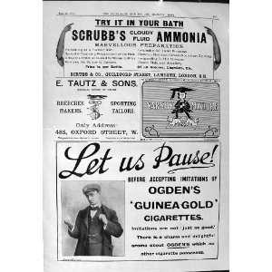 1901 Advertisement Scrubbs Ammonia Ogdens Cigarettes Kodak Photography