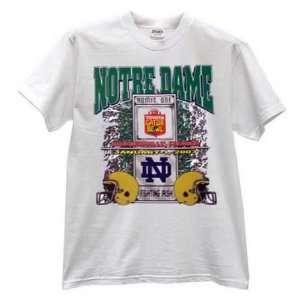 Dame Fighting Irish White 2003 Gator Bowl T shirt