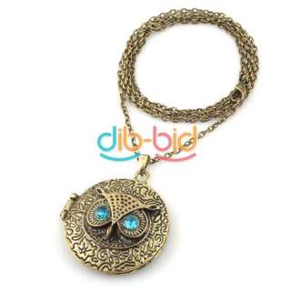 Charming New Lovely Style Retro Night Owl Pendant Necklace #1 Hot