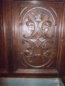 NICE CARVED LARGE ANTIQUE WALNUT ITALIAN FIGURAL HALL STAND 11IT116B