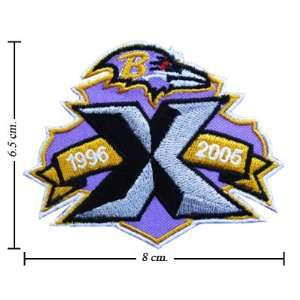Baltimore Ravens Anniversary Logo Iron On Patches