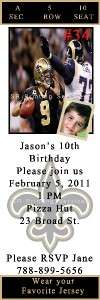 Birthday Invite Pittsburgh Steelers & New Orlean Saints