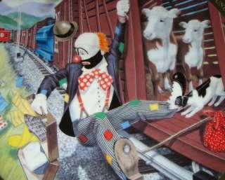 RON LEE World Of Clowns TRAVELING STYLE Hobo Joe Plate