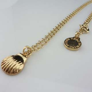 New Marc by M Jacobs Gold Shell Pendant Necklace