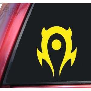 World of Warcraft Horde Vinyl Decal Sticker   Yellow