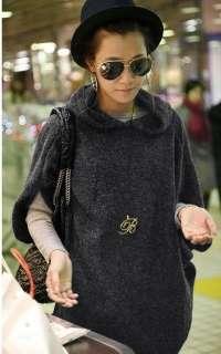Womens Korea Loose Hoodie 3/4 sleeve Top HOT Khaki GC27