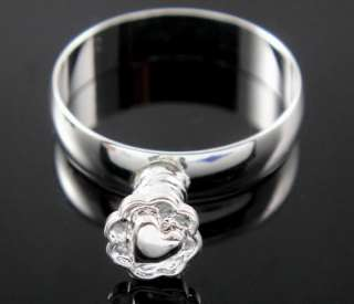 20pcs silver Charm Rings Fit European bead ring size7#8#9#
