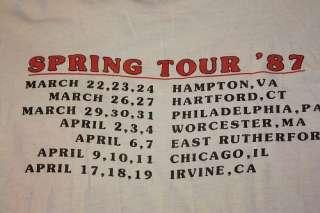 vtg 80s 1987 spring tour GRATEFUL DEAD concert t shirt