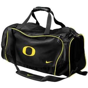 Nike Oregon Ducks Black Medium Brasilia Duffel Bag:  Sports