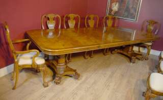 English George III Walnut Dining Table & 10 Queen Anne