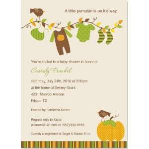 Little Pumpkin Baby Shower Invitation Baby