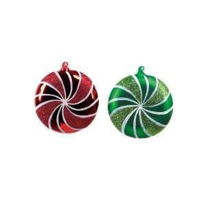Club Pack of 12 Candy Crush Red and Green Swirled Glass