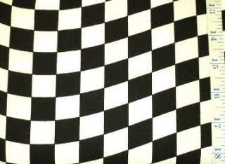 Auto Racing Wavy Checkered Flag Cotton Fabric NASCAR