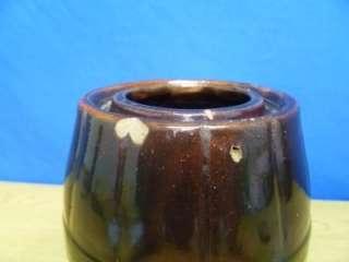 Antique Peoria Pottery Stoneware Jar Wax Seal Crock N21