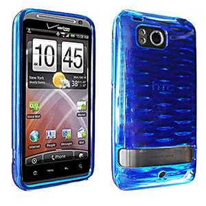 6400 Blue Silicone High Gloss Skin Case Cover OEM Verizon New