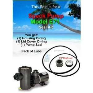 SPECK Pump Model E71 O ring & Shaft Seal Kit Everything