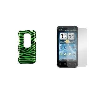 HTC EVO 3D (Sprint) Premium Combo Pack   Neon Green and Black Zebra