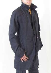 Star Jacket Haines Trench Designer Ultra Cotton Twill Black Men New