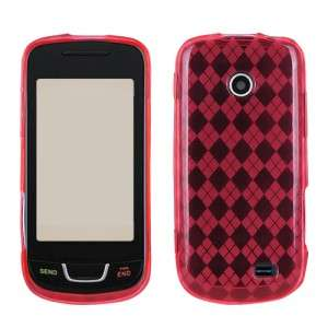 Hot Pink Argyle TPU Crystal Hard CANDY Skin Case Cover for Straight