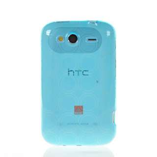 SOFT GEL TPU SILICONE CASE COVER + SCREEN FOR HTC WILDFIRE S 2 G13