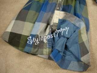 NEW Anthropologie Moulinette Soeurs Reed Shirtdress BLUE Plaid 2 6 8