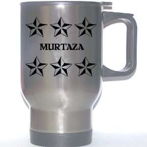 Personal Name Gift   MURTAZA Stainless Steel Mug (black