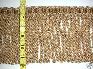 High Quality Bullion Fringe Trim taupe wheat tan