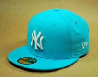 59FIFTY BASEBALL CAP NEW YORK YANKEES VICE BLUE NY LOGO WHITE