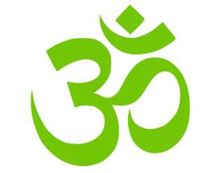 OM SYMBOL HINDU VINYL WINDOW DECAL GREEN 4X4 AUM GOD