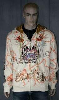 Christian Audigier CHARMED LIFE platinum Hoodie Stones
