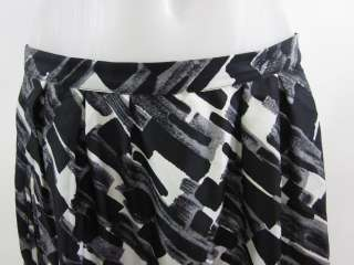 MICHAEL MICHAEL KORS Black White Gray Silk Skirt Sz 6